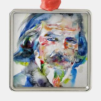 Alan-Watt - Aquarell portrait.3 Silbernes Ornament