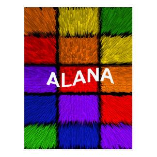 ALANA (weibliche Namen) Postkarte