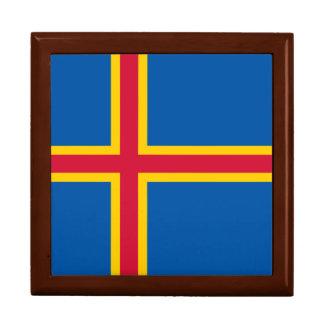 Aland Insel-Flagge Erinnerungskiste