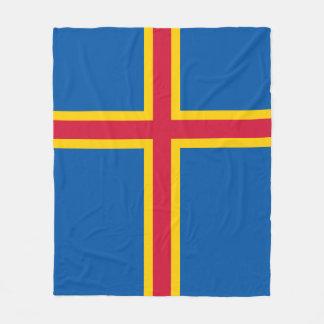 Aland Insel-Flagge Fleecedecke