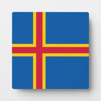 Aland Insel-Flagge Fotoplatte