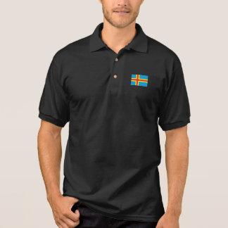 Aland Insel-Flagge Polo Shirt
