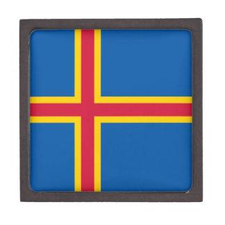 Aland Insel-Flagge Schmuckkiste