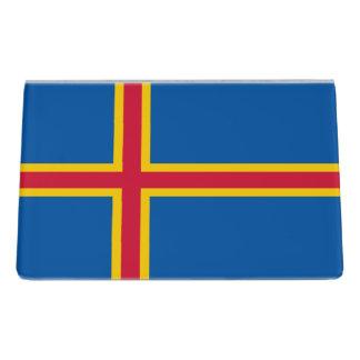 Aland Insel-Flagge Schreibtisch-Visitenkartenhalter