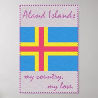 Aland Inseln mein Land meine Liebe Poster