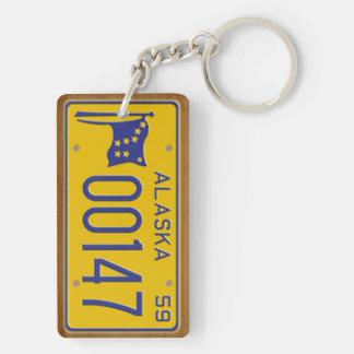 Alaska 1959 Vintage Lizenz-Platte Keychain Schlüsselanhänger