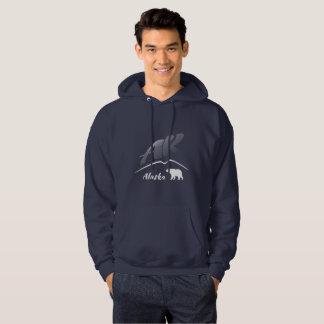 Alaska (AK)kodiak-Braunbär - weißes Logo Hoodie