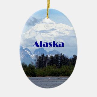 Alaska: Denali, Wald, Fluss, Berge 1 Keramik Ornament