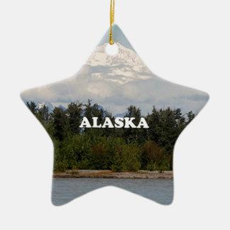 Alaska: Denali, Wald, Fluss, Berge, USA 2 Keramik Ornament
