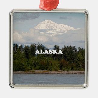 Alaska: Denali, Wald, Fluss, Berge, USA 2 Silbernes Ornament