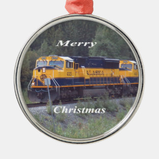 Alaska-Eisenbahn Silbernes Ornament