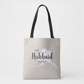 Alaska-Familien-Monogramm-Staats-Taschen-Tasche Tasche