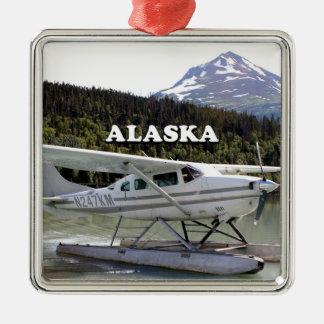 Alaska: Floss-Flugzeug, Trailsee 3 Silbernes Ornament