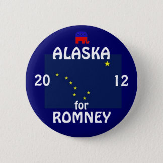 Alaska für Romney 2012 Runder Button 5,1 Cm