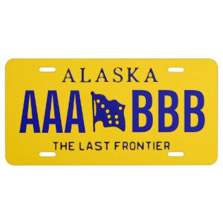 Alaska-Gewohnheits-Kfz-Kennzeichen US Nummernschild