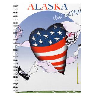 Alaska laute und stolz, tony fernandes spiral notizblock