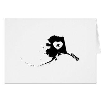 Alaska-Liebe Karte