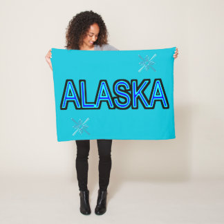 Alaska-Schneeflocke Fleecedecke