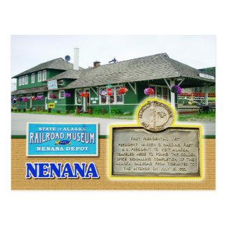 Alaska-Staats-Eisenbahn-Museum, Nenana, Alaska Postkarte