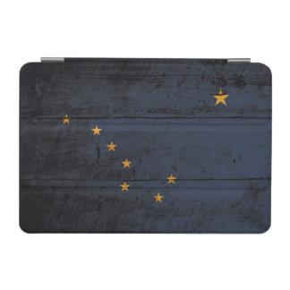 Alaska-Staats-Flagge auf altem hölzernem Korn iPad Mini Cover