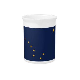 Alaska-Staats-Flaggen-Krug Getränke Pitcher
