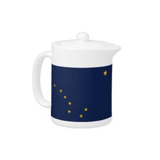 Alaska-Staats-Flaggen-Teekanne