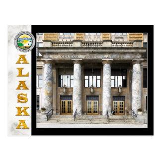 Alaska-Staats-Hauptstadts-Gebäude in Juneau Postkarte