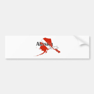 Alaska-Staats-Tauchen-Flagge Autoaufkleber