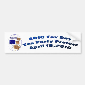 Alaska-Steuer-Tagestee-Party-Protest-Autoaufkleber Autoaufkleber
