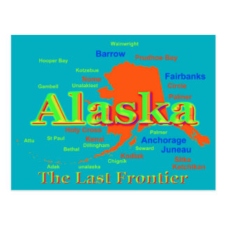 Alaska-Stolz-Karten-Silhouette Postkarte
