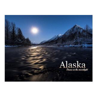 Alaska-Tanz im Mondschein Postkarte