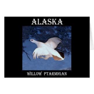 Alaska-Weide-Alpenschneehuhn Karte