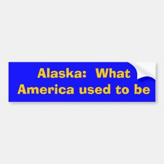 Alaska:  Welches Amerika verwendete, um zu sein Autoaufkleber