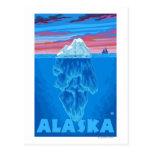 AlaskaIceberg Vintages Reise-Plakat Postkarte