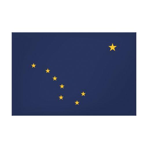 Alaskas Flagge eingewickelte Leinwand Galerie Falt Leinwand