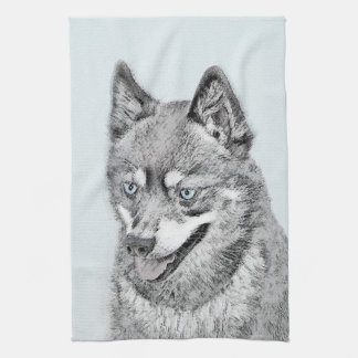Alaskische Klee Kai Malerei - niedliche Handtuch