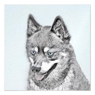 Alaskische Klee Kai Malerei - niedliche Magnetische Karte