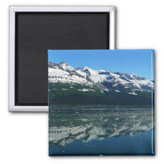 Alaskische Küstenlinien-schöne Natur-Fotografie Quadratischer Magnet