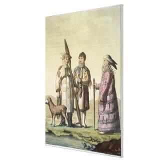 Alaskische Männer und Frauen gekleidet für die Fis Gespannter Galeriedruck