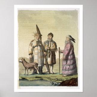 Alaskische Männer und Frauen gekleidet für die Fis Plakatdrucke