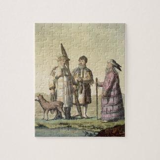 Alaskische Männer und Frauen gekleidet für die Fis Puzzles