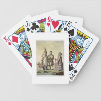 Alaskische Männer und Frauen gekleidet für die Fis Spielkarten