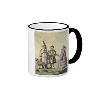 Alaskische Männer und Frauen gekleidet für die Fis Tee Haferl