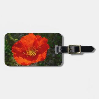 Alaskische rote Mohnblumen-bunte Blume Kofferanhänger