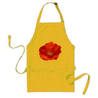 Alaskische rote Mohnblumen-bunte Blume Schürze