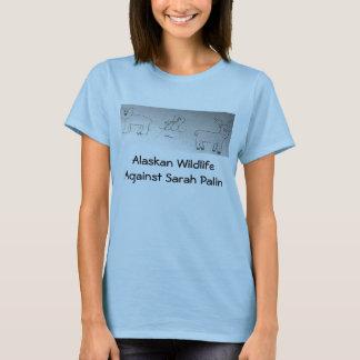 Alaskische wild lebende Tiere gegen Sarah Palin T-Shirt