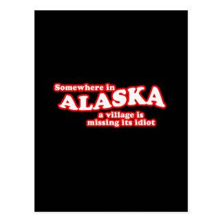 Alaskischer Dorfidiot Postkarte