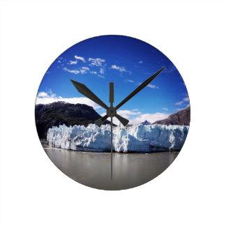 Alaskischer Gletscher Runde Wanduhr