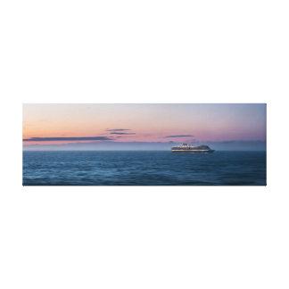 Alaskischer Kreuzschiff-Sonnenuntergang Leinwanddruck