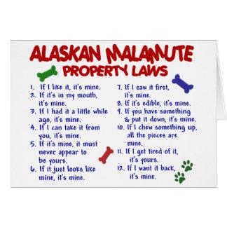 ALASKISCHER MALAMUTE Eigentums-Gesetze 2 Karte